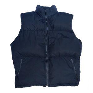 Trek women's black pure duck down puffer vest sz M